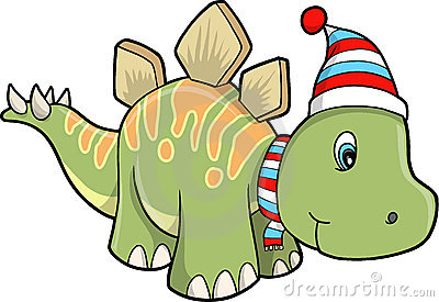 Christmas Holiday stegosaurus Dinosaur