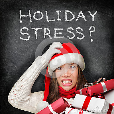 Free Christmas Holiday Stress - Stressed Shopping Gifts Royalty Free Stock Photo - 34645655