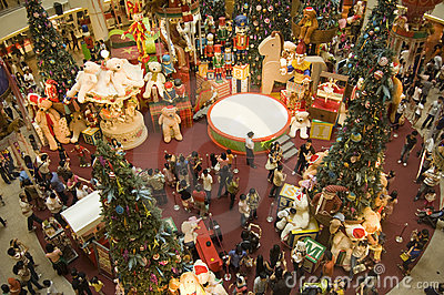 Christmas Holidays in KL Mid Vally shopping center Editorial Stock Image