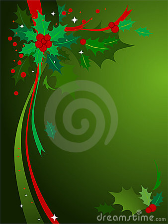 Free Christmas Holly Background 3 Stock Photos - 3752163