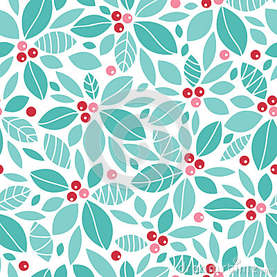 Free Christmas Holly Berries Seamless Pattern Royalty Free Stock Image - 33134126