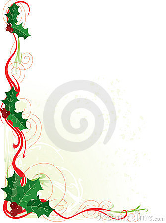 holly border for word.
