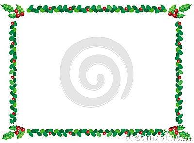 Christmas holly border