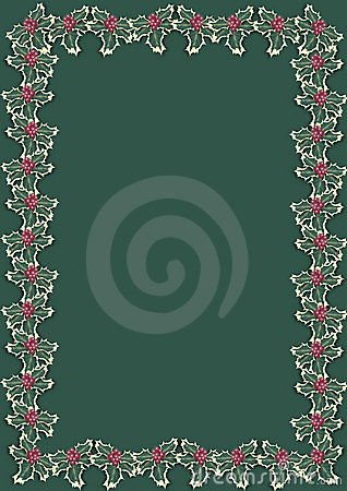 Christmas holly border 3