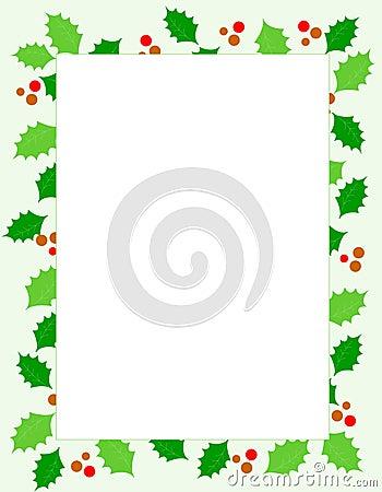 Free Christmas Holly Border Stock Photos - 6346573