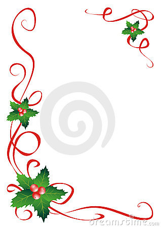 Free Christmas Holly Border Decoration Royalty Free Stock Images - 3498879