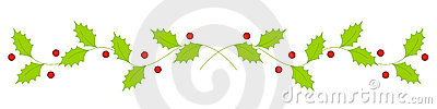 Christmas holly divider / border