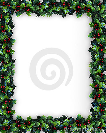 Free Christmas Holly Frame Stock Images - 4236664