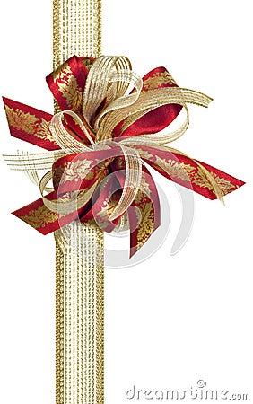 Free Christmas Holly Ribbon Stock Images - 10827724