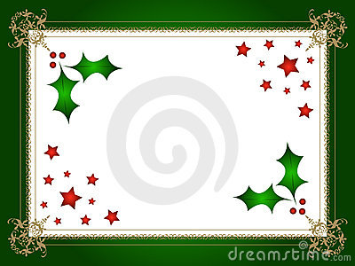 Christmas holly and stars