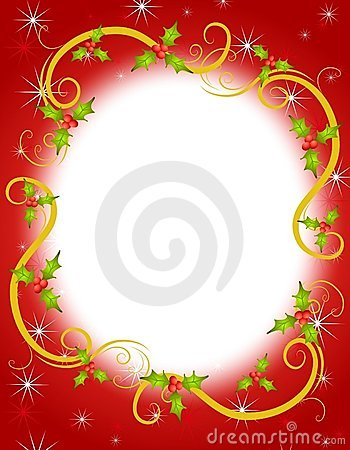 Christmas Holly Wreath Frame 2