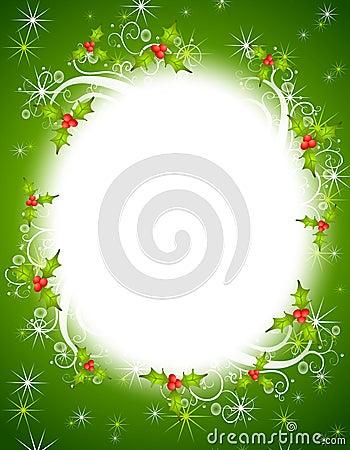 Christmas Holly Wreath Frame