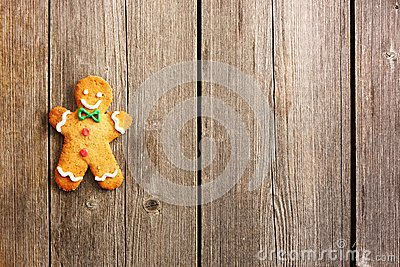 Christmas homemade gingerbread man cookie