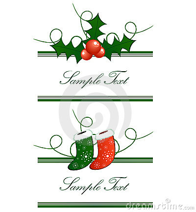 Christmas horizontal borders