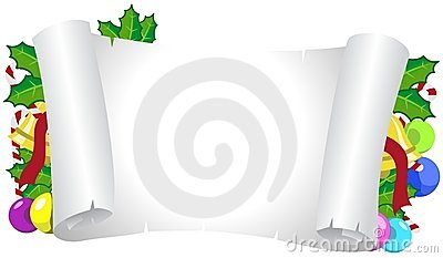 Christmas Horizontal Decorated Frame Royalty Free Stock Photography - Image: 17285307