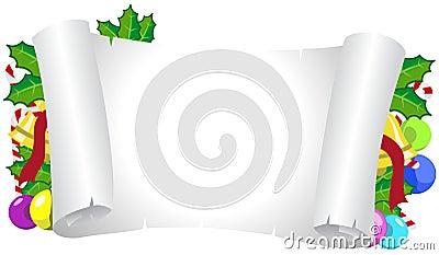 Christmas Horizontal Decorated Frame