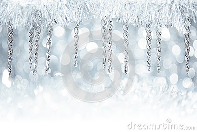 Christmas icicle decorations