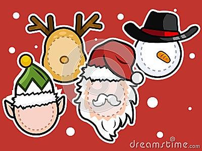 Christmas icon set . Stock Photo