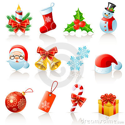 Free Christmas Icons Royalty Free Stock Photography - 16608807