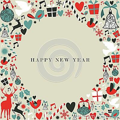 Free Christmas Icons 2013 Happy New Year Stock Photos - 28168283