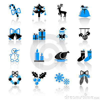 Free Christmas Icons Royalty Free Stock Images - 21966139