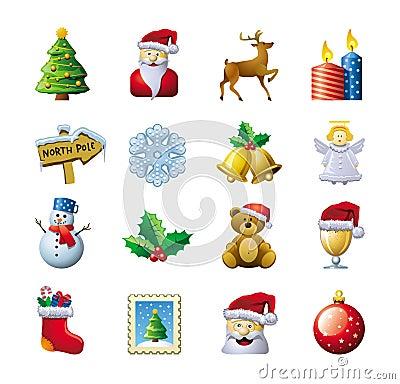Free Christmas Icons Stock Photos - 26672623