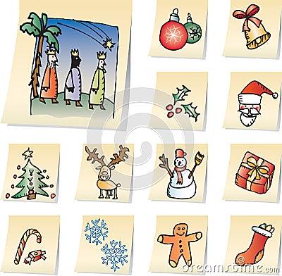 Free Christmas Icons Stock Photo - 3221040
