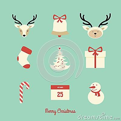 Free Christmas Icons Stock Photography - 46201052