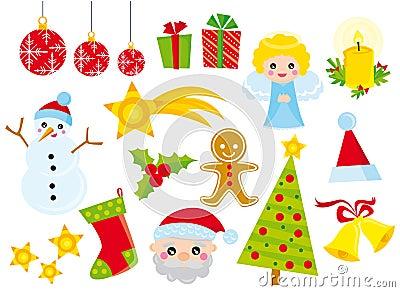 Christmas icons Vector Illustration
