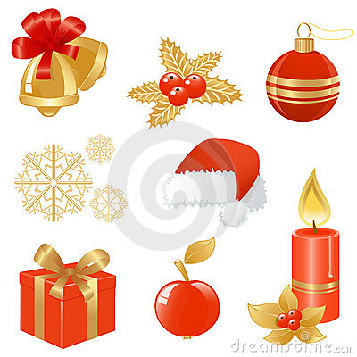 Free Christmas Icons. Royalty Free Stock Photography - 6824037