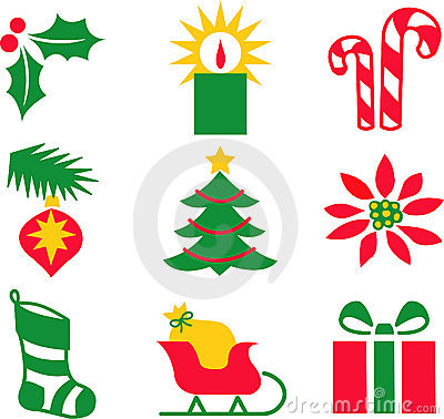 Free Christmas Icons/eps Royalty Free Stock Photography - 849097