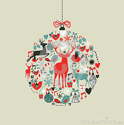 Free Christmas Icons In Bauble Shape Royalty Free Stock Photography - 26923927