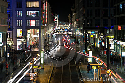 Christmas illuminations Friedrichstrasse Editorial Image