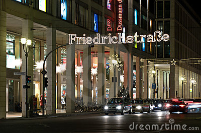 Christmas illuminations Friedrichstrasse Editorial Photography
