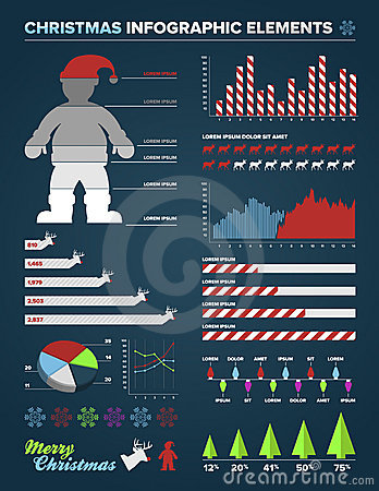 Christmas Infographic design elements