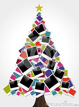 Christmas instant photo frame tree
