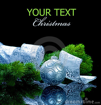 Free Christmas Isolated On Black Stock Photo - 16913390