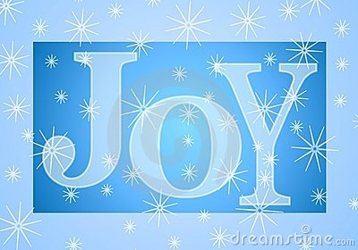 Christmas Joy Banner in Blue