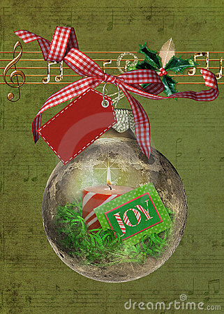 Free Christmas Joy Ornament With Music Royalty Free Stock Photos - 17535808