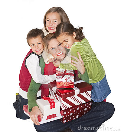 Free Christmas Joy With Mom And Family Royalty Free Stock Photography - 16535547