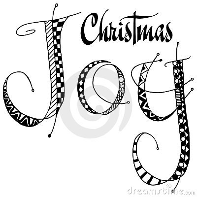 Christmas Joy word art