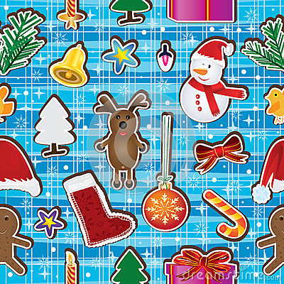 Christmas Keep Happy Seamless Pattern_eps
