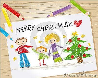 Christmas kid drawing