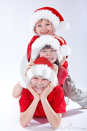 Free Christmas Kids Royalty Free Stock Photography - 4145687