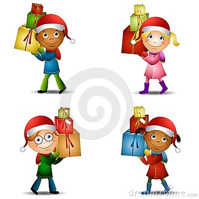 Christmas Kids With Gifts 2