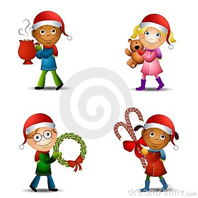 Free Christmas Kids With Gifts Royalty Free Stock Photos - 7171858