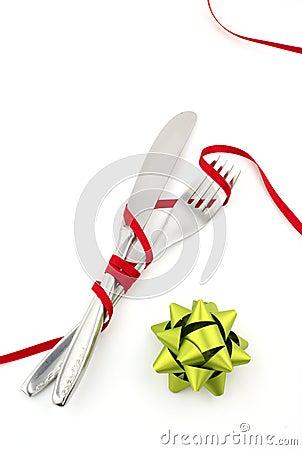 Christmas knife and fork
