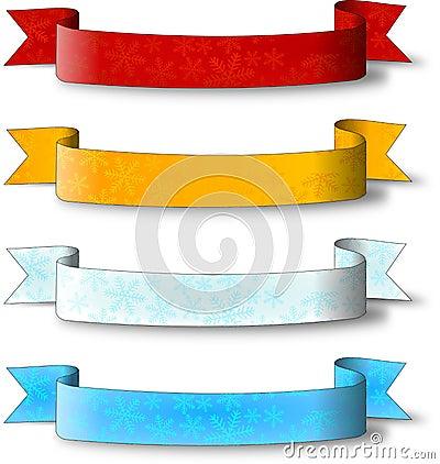 Christmas label ribbon
