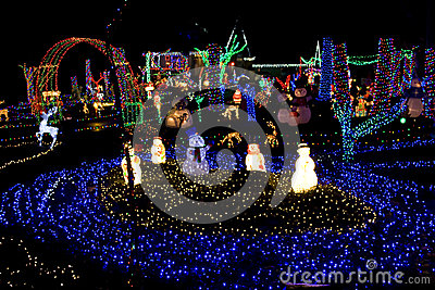 Christmas land of lights