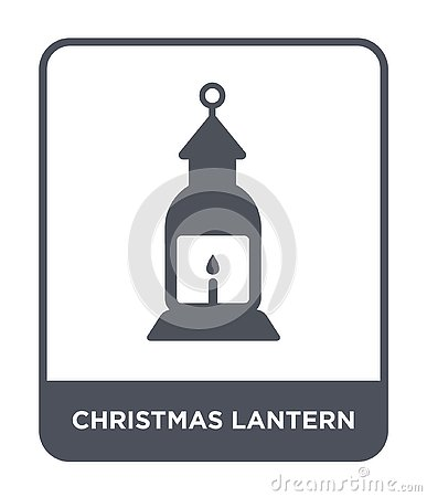 christmas lantern icon in trendy design style. christmas lantern icon isolated on white background. christmas lantern vector icon Vector Illustration